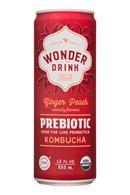 Wonder Drink: PureSteeps-12oz-WonderDrink-Prebiotic-GingerPeach-Front