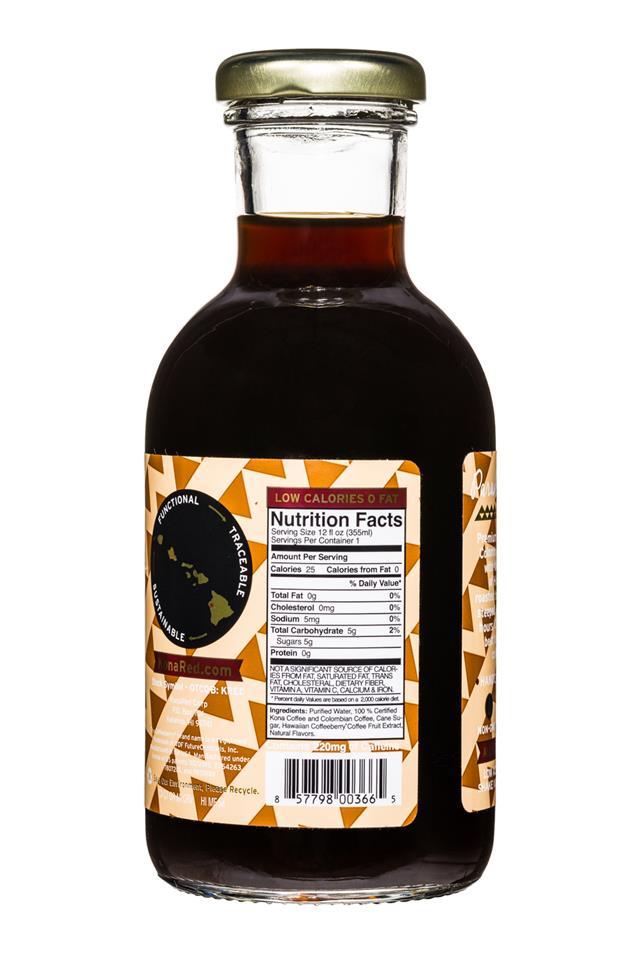 KonaRed Cold Brew Coffee: KonaRed-ColdBrew-12oz-MauiMocha-Facts