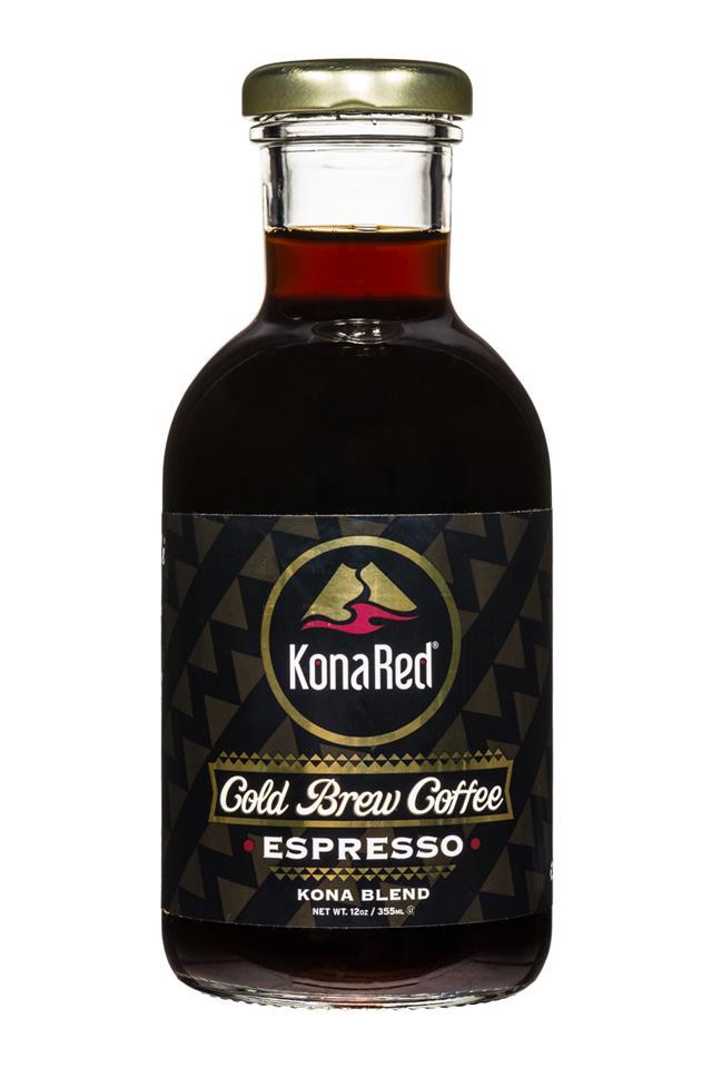 KonaRed Cold Brew Coffee: KonaRed-ColdBrew-12oz-Espresso-Front