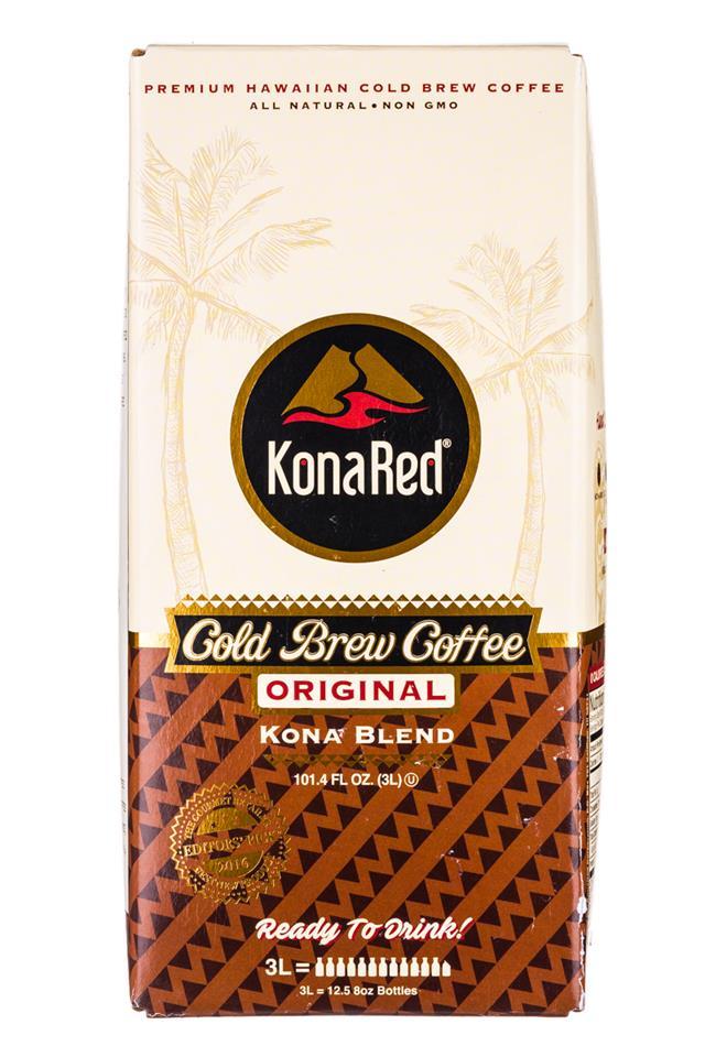 KonaRed Cold Brew Coffee: KonaRed-ColdBrew-Original-3L-Front
