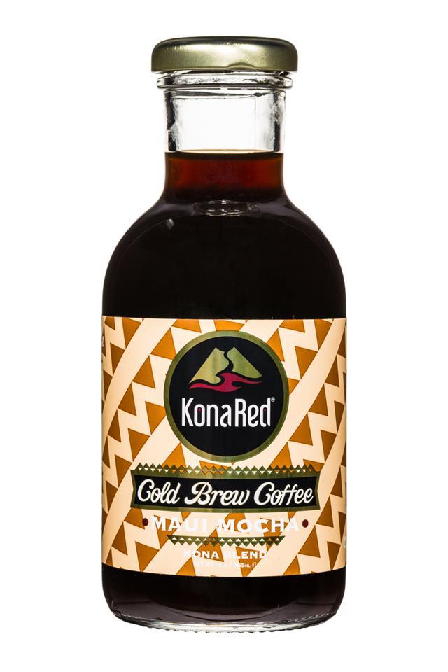 KonaRed Cold Brew Coffee: KonaRed-ColdBrew-12oz-MauiMocha-Front