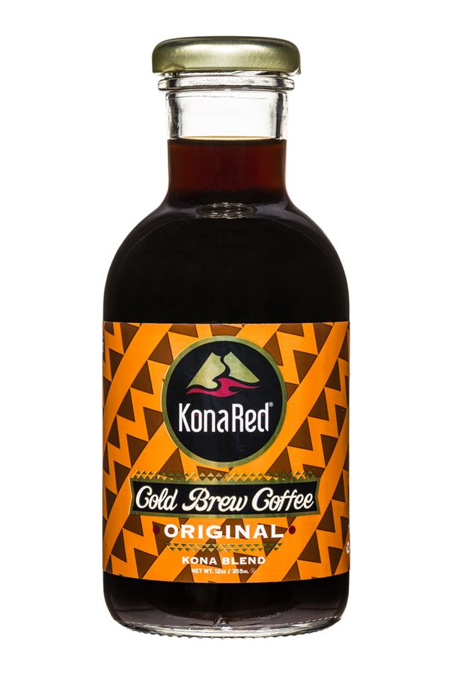KonaRed Cold Brew Coffee: KonaRed-ColdBrew-12oz-OG-Front