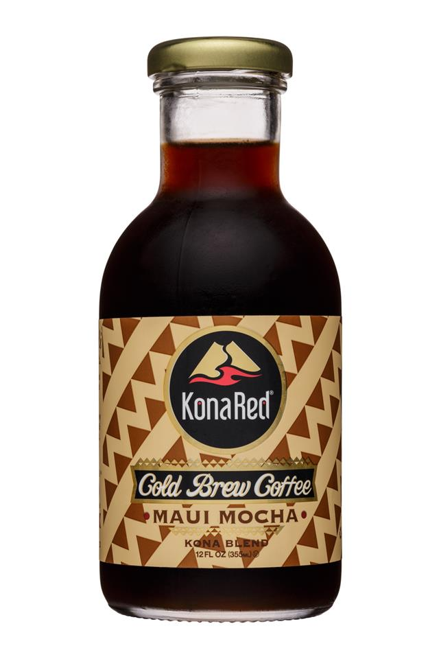 KonaRed Cold Brew Coffee: KonaRed-12oz-ColdBrew-MauiMocha-Front