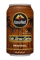 KonaRed Cold Brew Coffee: KonaRed-12oz-ColdBrewCoffee-Original-Front