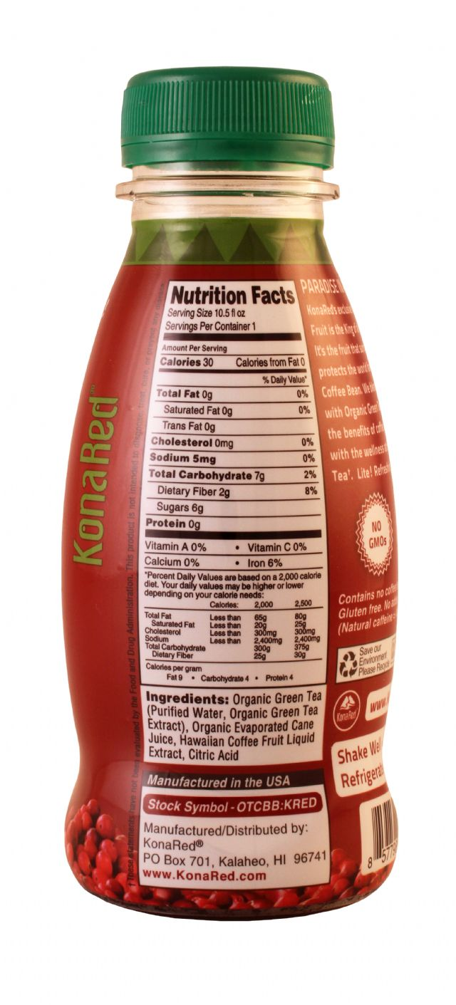 Kona Red: KonaRed GreenTea Facts