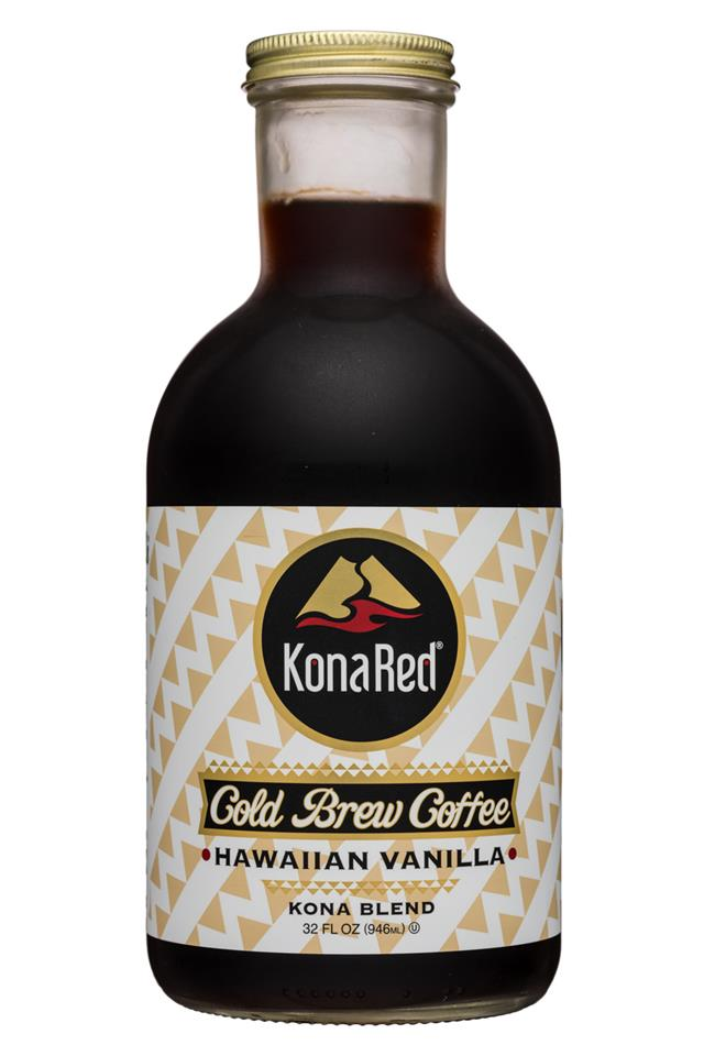Kona Red: KonaRed-32oz-ColdBrew-HawaiianVanilla-Front
