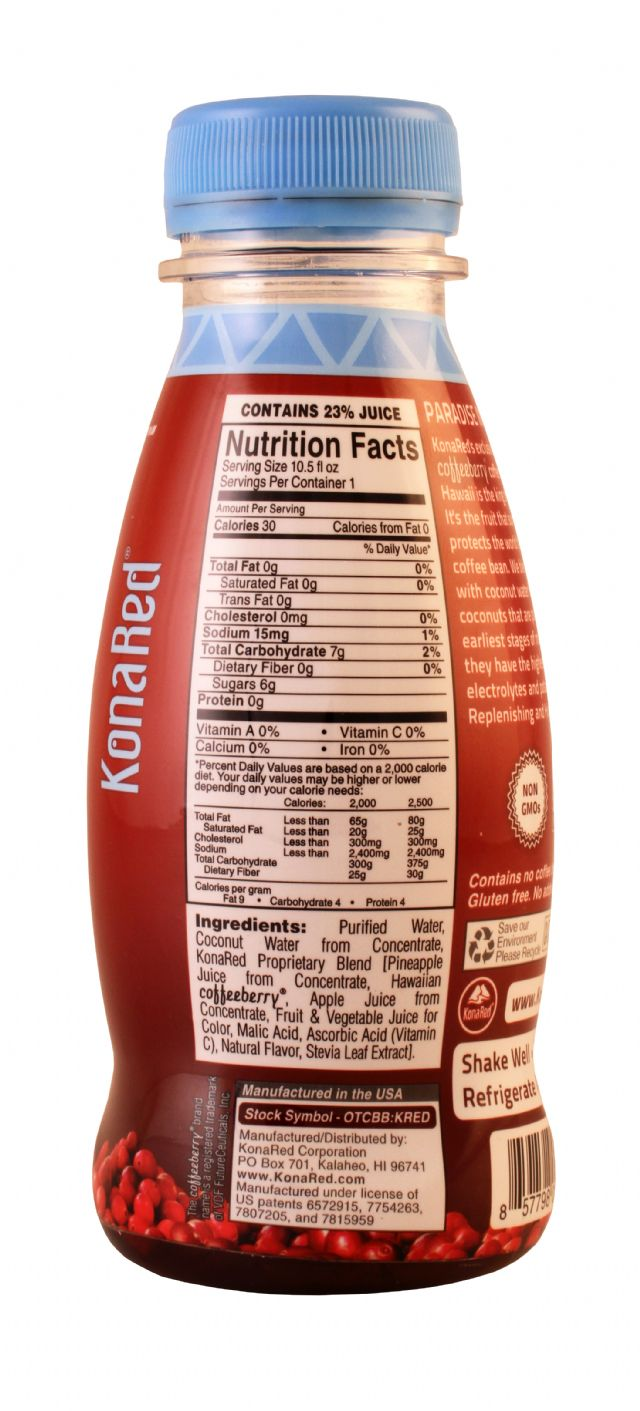Kona Red: KonaRed CoconutWater Facts