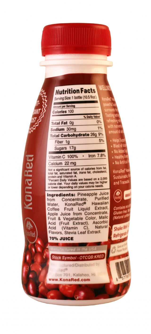 Kona Red: KonaRed RedBerry Facts