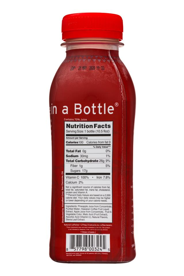 Kona Red: KonaRed-11oz-CoffeeFruitJuice-Facts