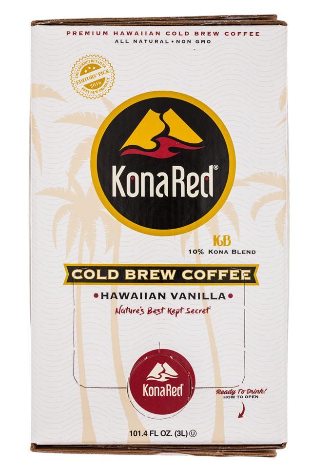 Kona Red: KonaRed-100oz-ColdBrew-HawaiianVanilla-Front