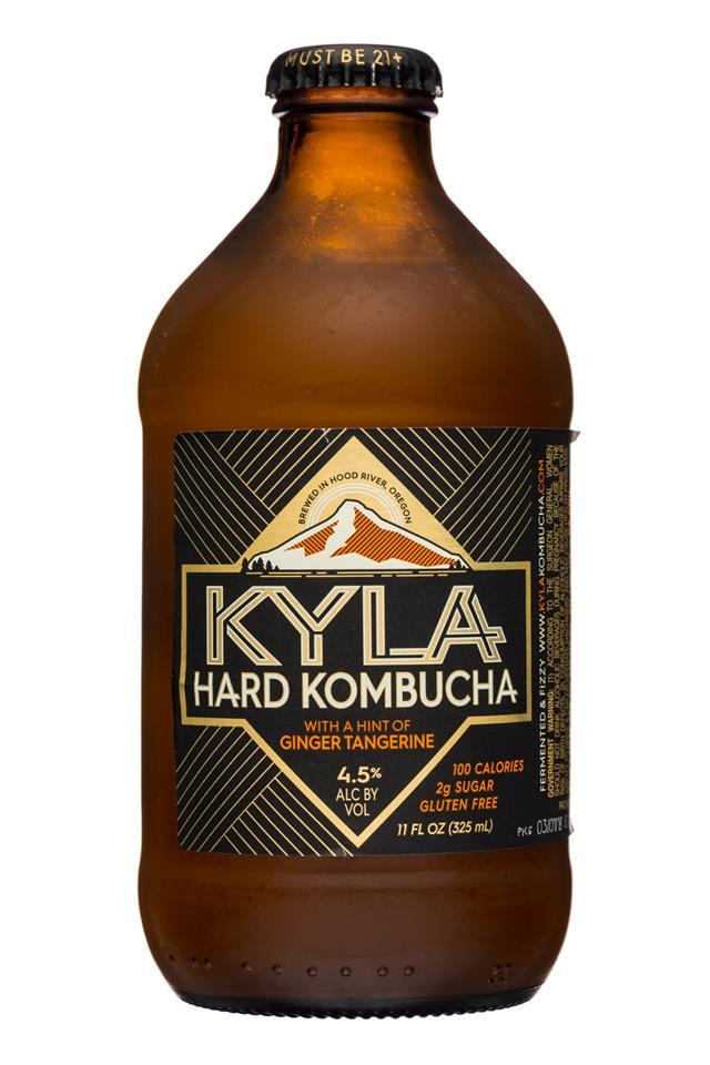 Kyla Kombucha: Kyla-11oz-HardKombucha-GingerTangerine-Front