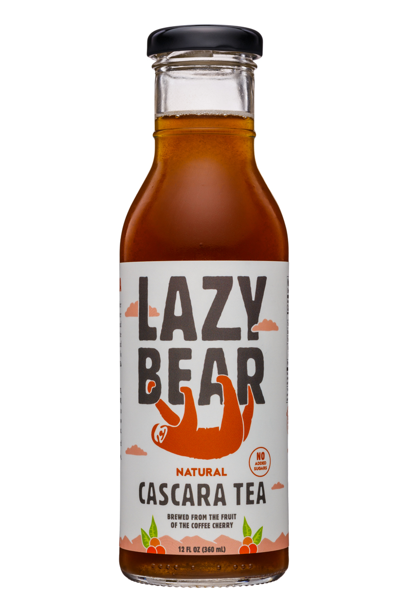 Lazy Bear: LazyBear-12oz-CascaraTea-Natural-Front