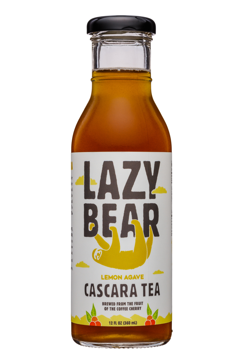 Lazy Bear: LazyBear-12oz-CascaraTea-LemonAgave-Front