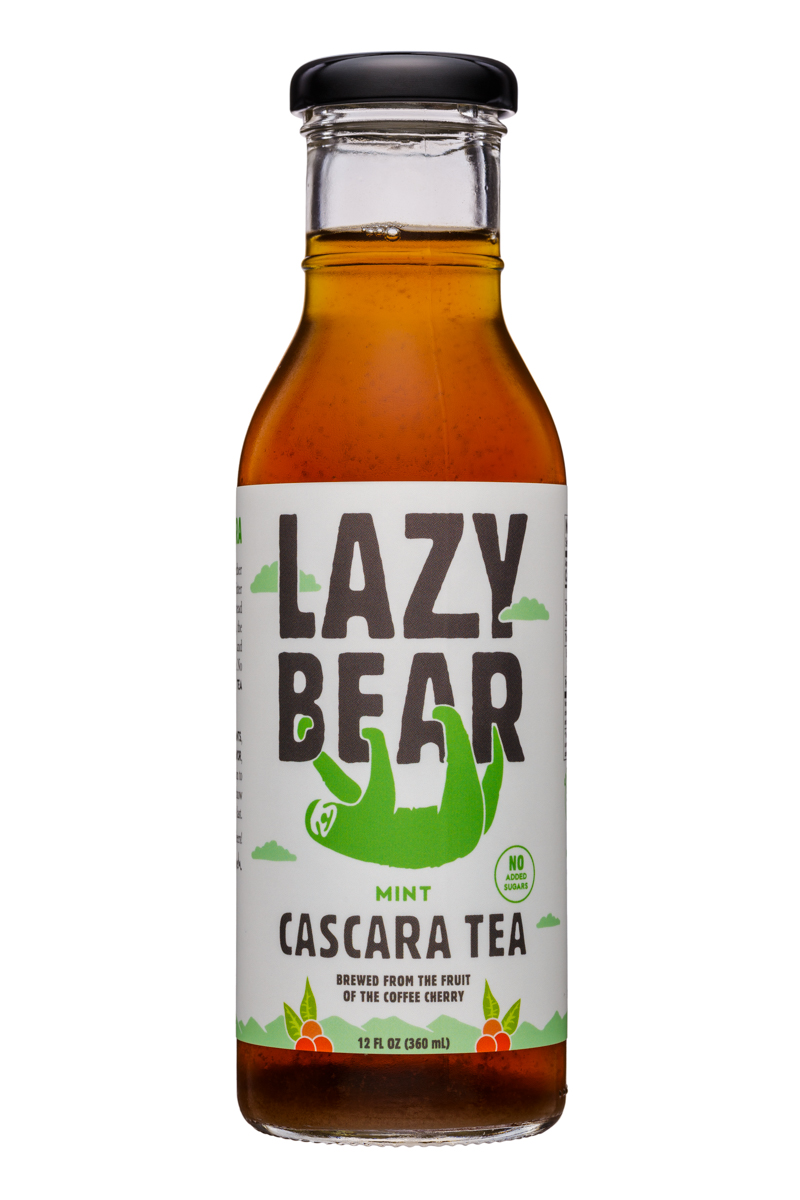 Lazy Bear: LazyBear-12oz-CascaraTea-Mint-Front