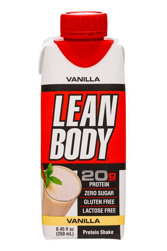 Lean Body: LeanBody-8oz-ProteinShake-Vanilla-Front