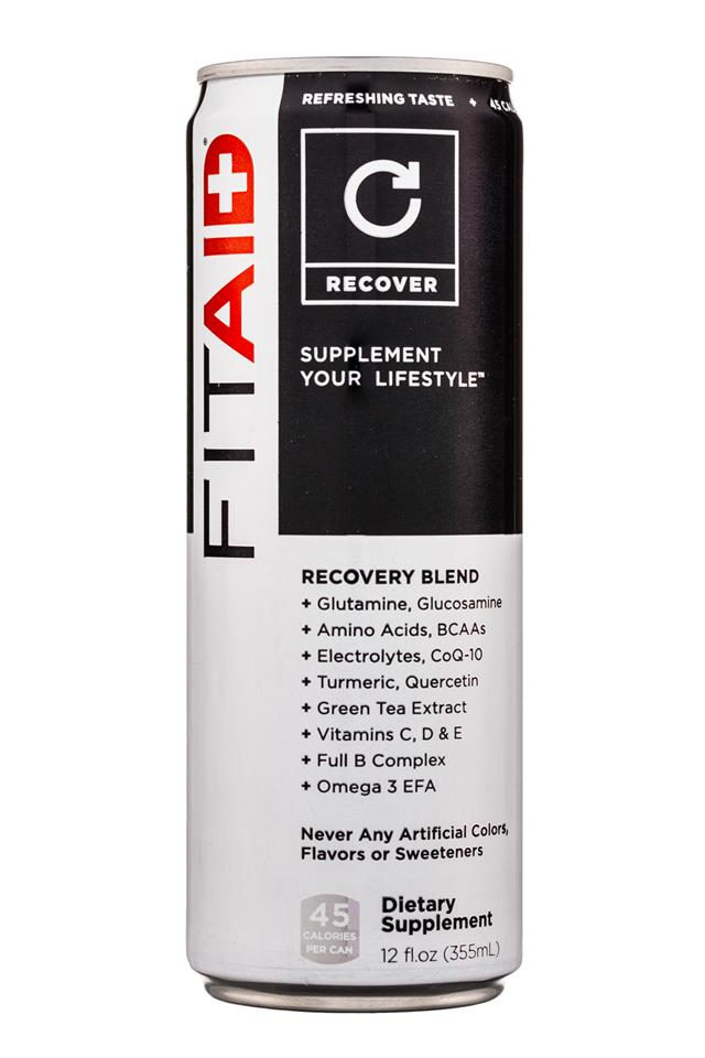 LifeAID: LifeAid-12oz-FitAid-Recover-Front