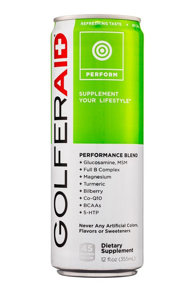 LifeAID: LifeAid-12oz-GolferAid-Perform-Front