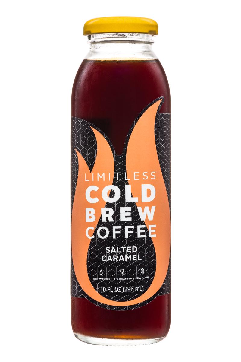 Limitless Cold Brew Coffee: Limitless-ColdBrewCoffee-10oz-SaltedCaramel-Front