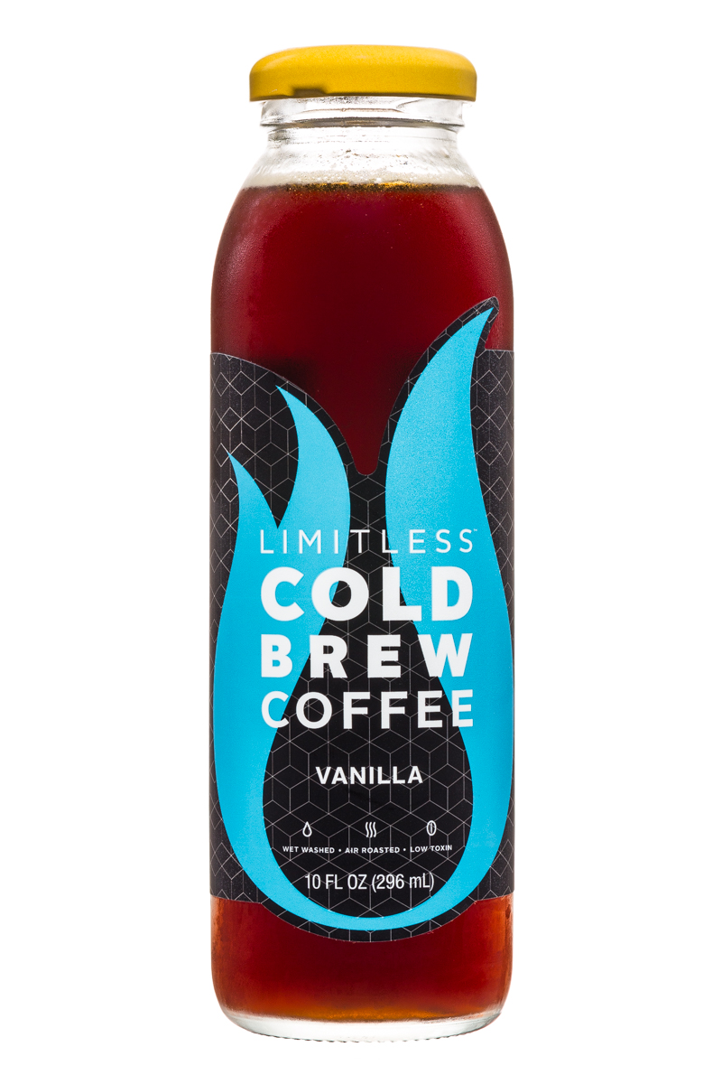 Limitless Cold Brew Coffee: Limitless-ColdBrewCoffee-10oz-Vanilla-Front