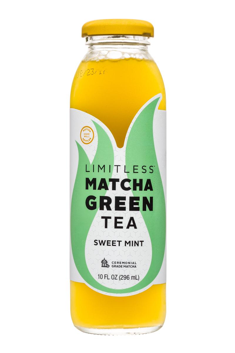 Limitless Matcha Green Tea: Limitless-MatchaGreenTea-10oz-SweetMint-Front