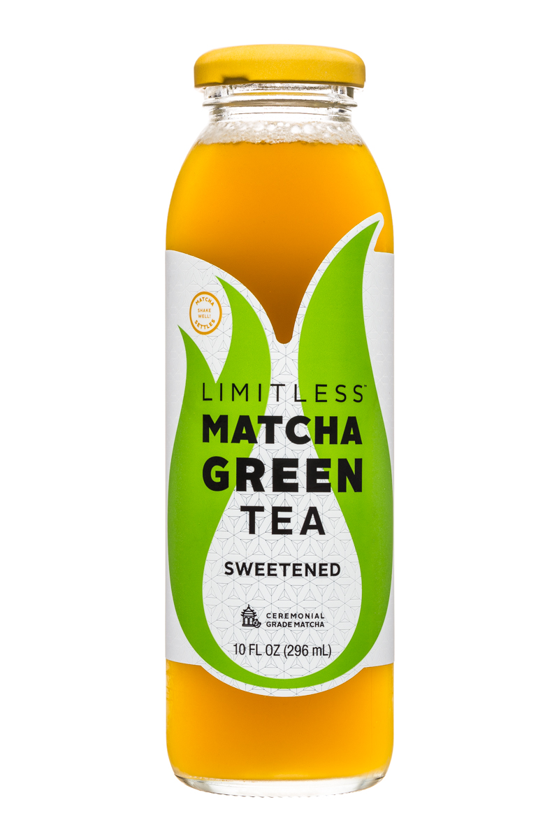 Limitless Matcha Green Tea: Limitless-MatchaGreenTea-10oz-Sweetened-Front