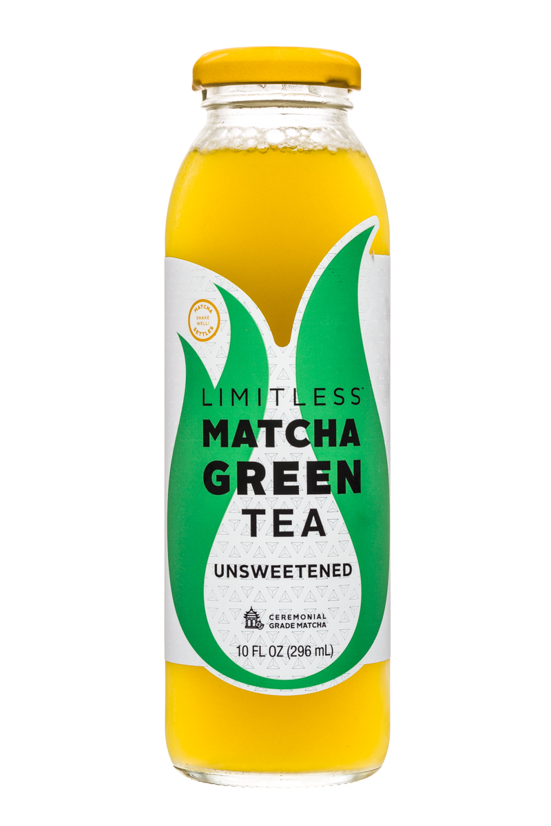 Limitless Matcha Green Tea: Limitless-MatchaGreenTea-10oz-Unsweetened-Front