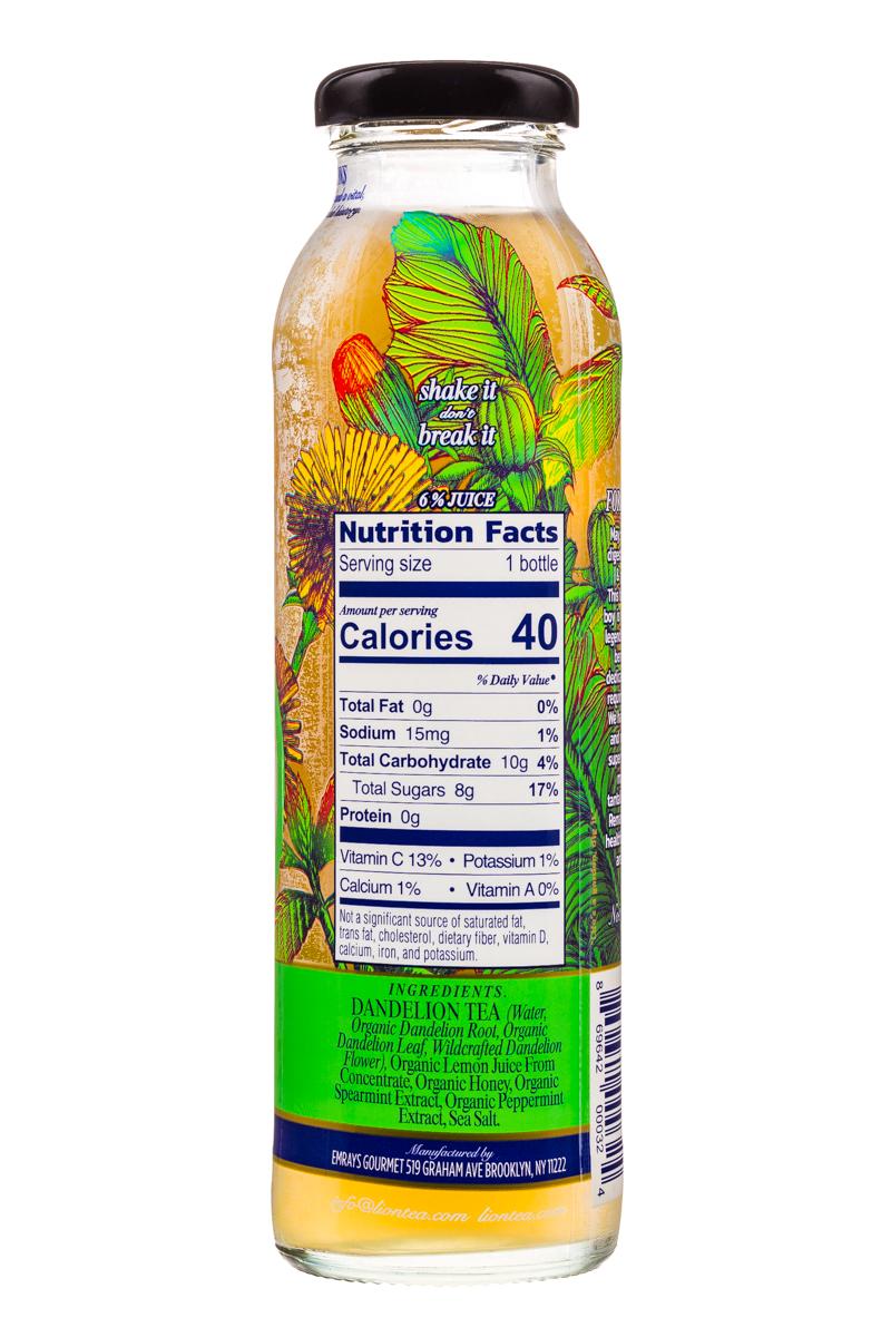 Lion Botanical Tonic: Lion-DandelionTea-10oz-Mint-Facts