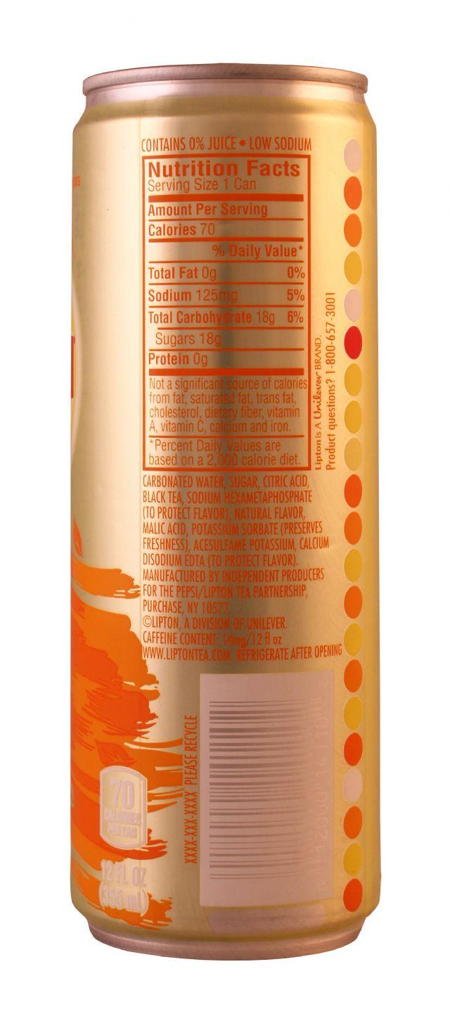 Lipton Sparkling Iced Tea: Lipton SparkPeach Facts