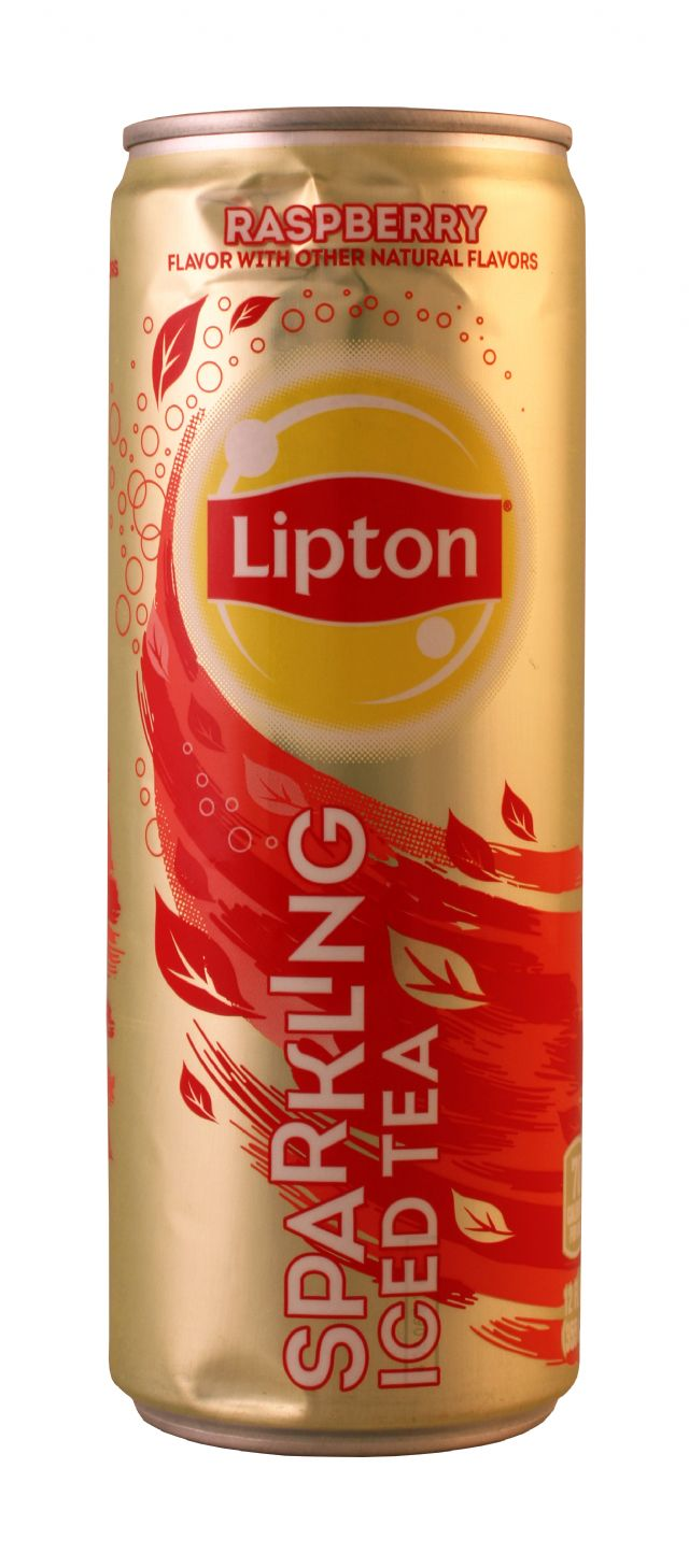 Lipton Sparkling Iced Tea: Lipton SparkRasp Front