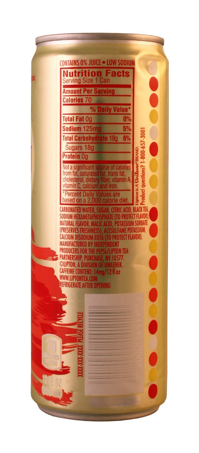 Lipton Sparkling Iced Tea: Lipton SparkRasp Facts