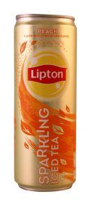 Lipton Sparkling Iced Tea: Lipton SparkPeach Front