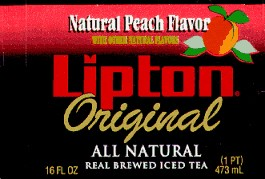 Natural Peach Flavored Iced Tea