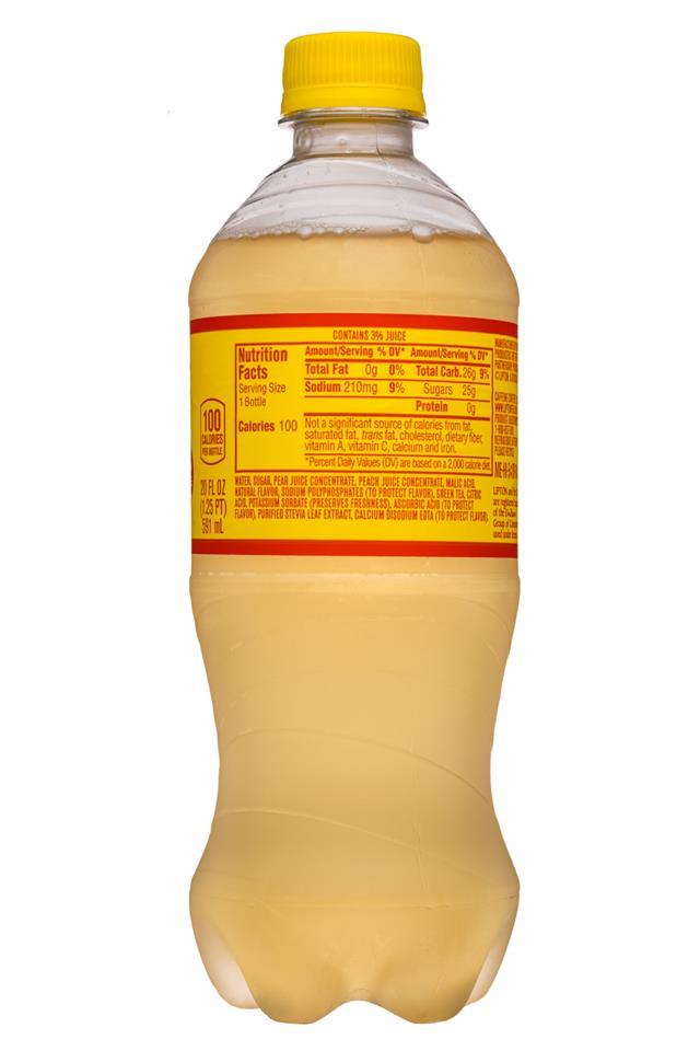 Lipton Tea: Lipton-20oz-IcedTea-PearPeach-Facts