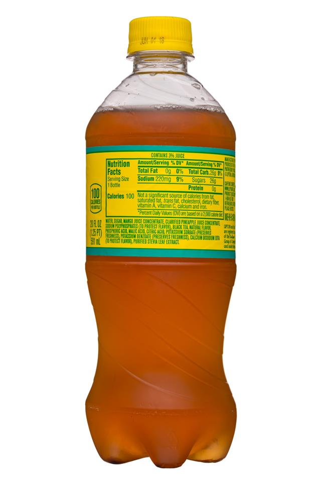 Lipton Tea: Lipton-20oz-IcedTea-Tropical-Facts