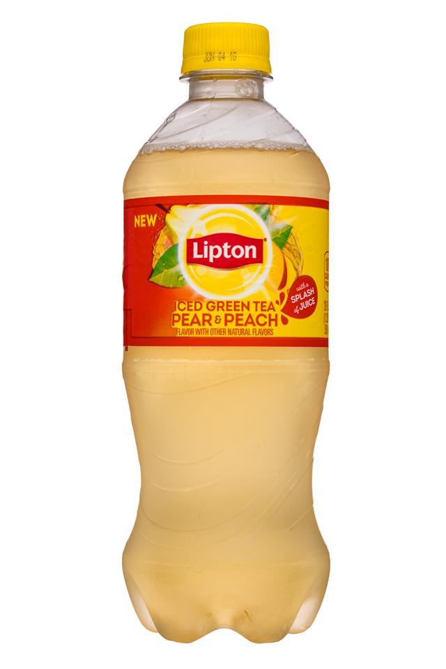 Lipton Tea: Lipton-20oz-IcedTea-PearPeach-Front