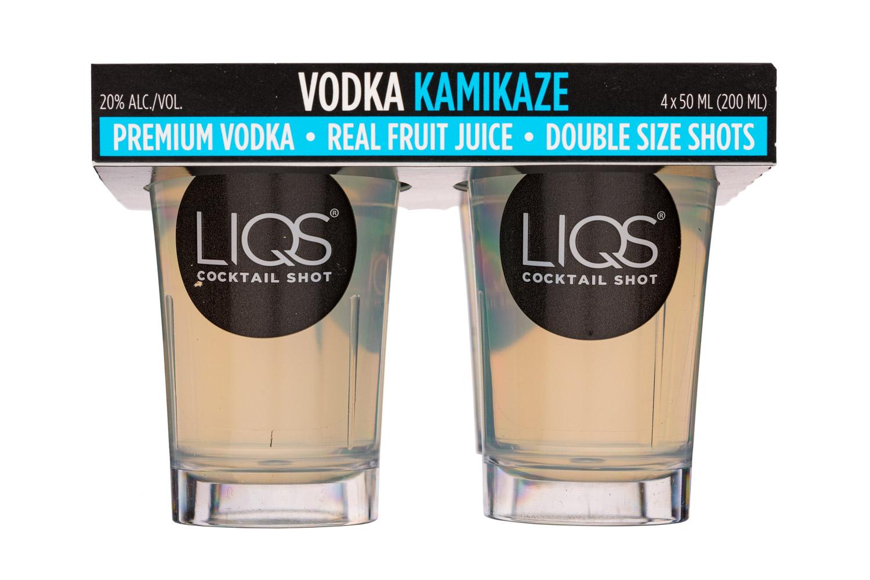 LIQS Cocktail Shot: LIQS-200ml-Shots-VodkaKamikaze