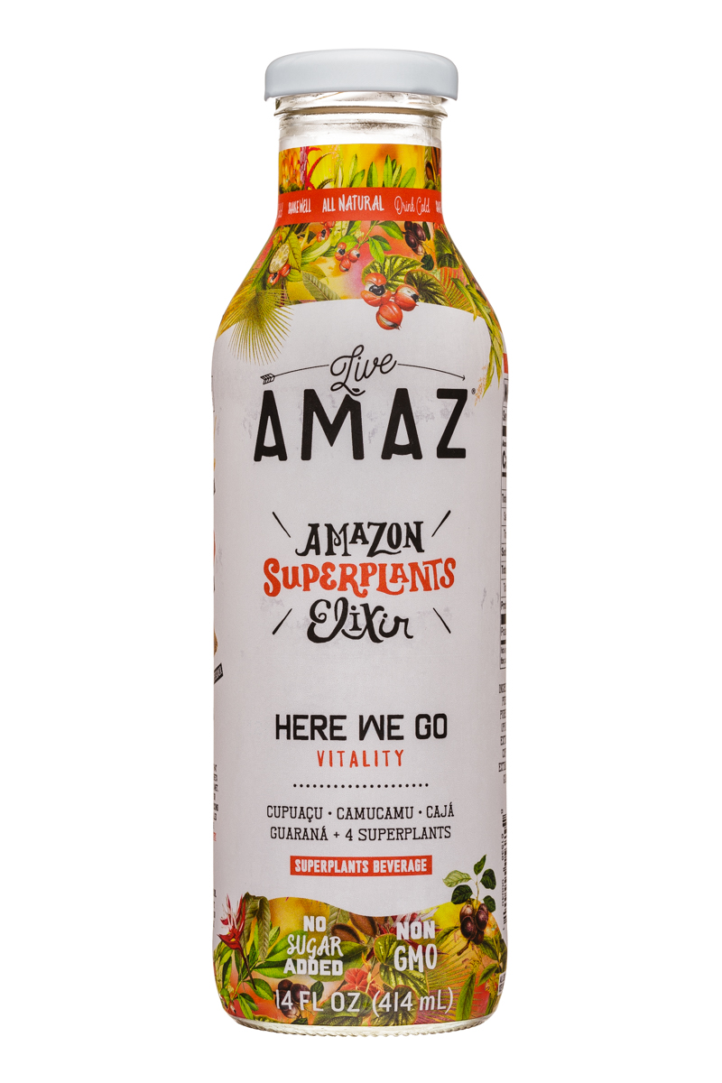 Live Amaz: LiveAmaz-14ozSuperplantsElixer-HereWeGo-Front
