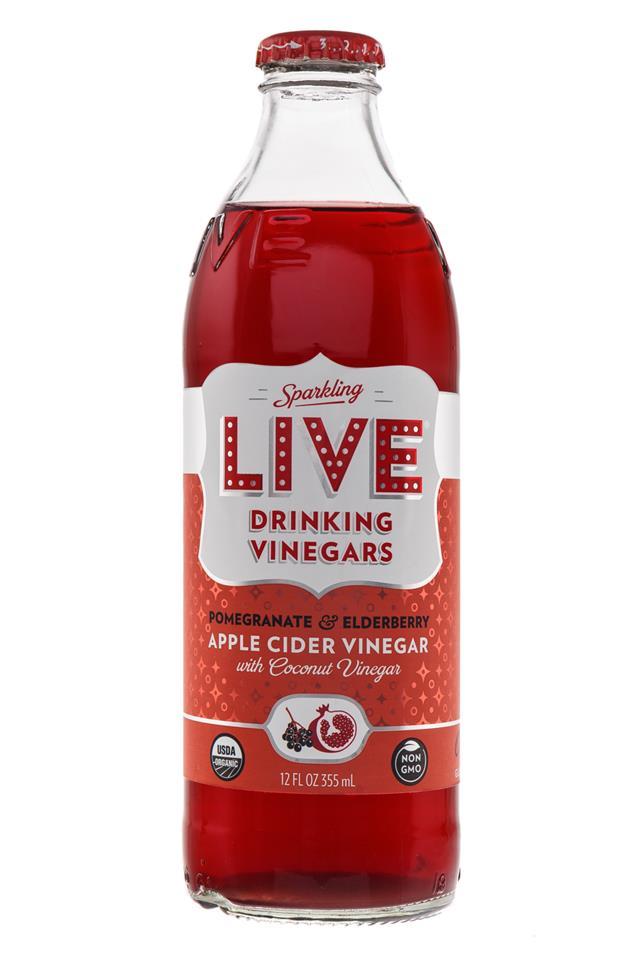 LIVE Sparkling Drinking Vinegars : Live-PomElderberry-Front