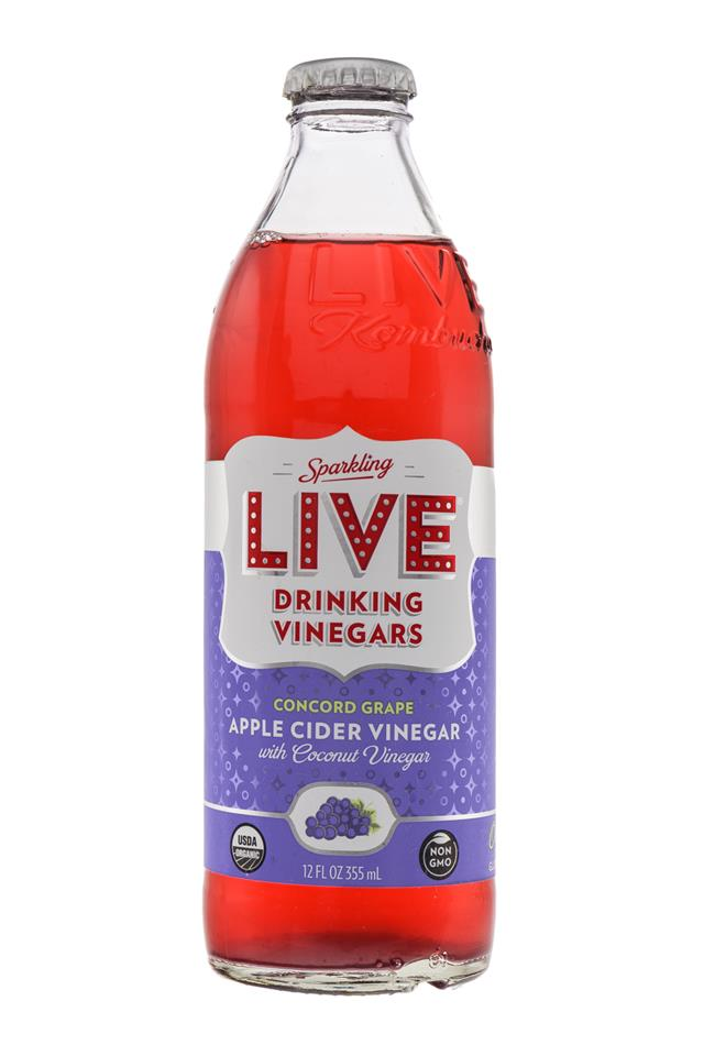 LIVE Sparkling Drinking Vinegars : Live-ConcordGrape-Front