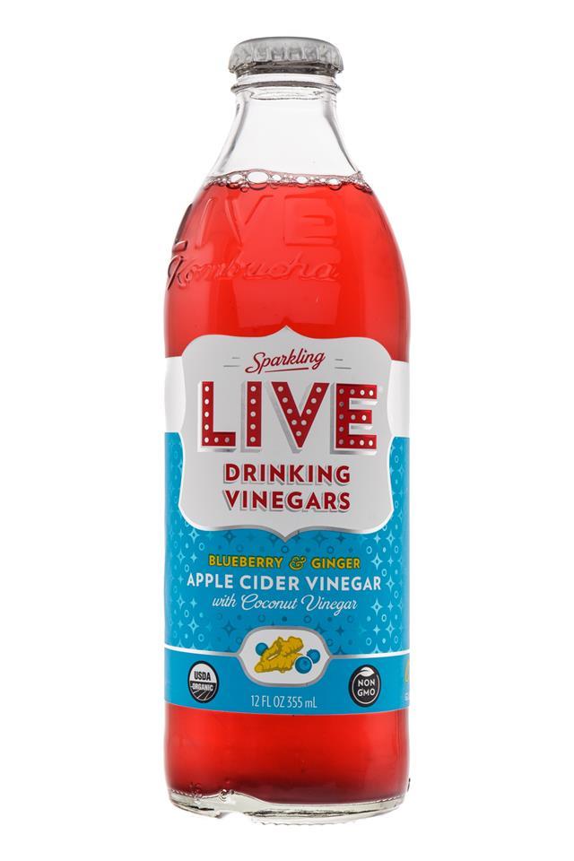 LIVE Sparkling Drinking Vinegars : Live-BlueberryGinger-Front