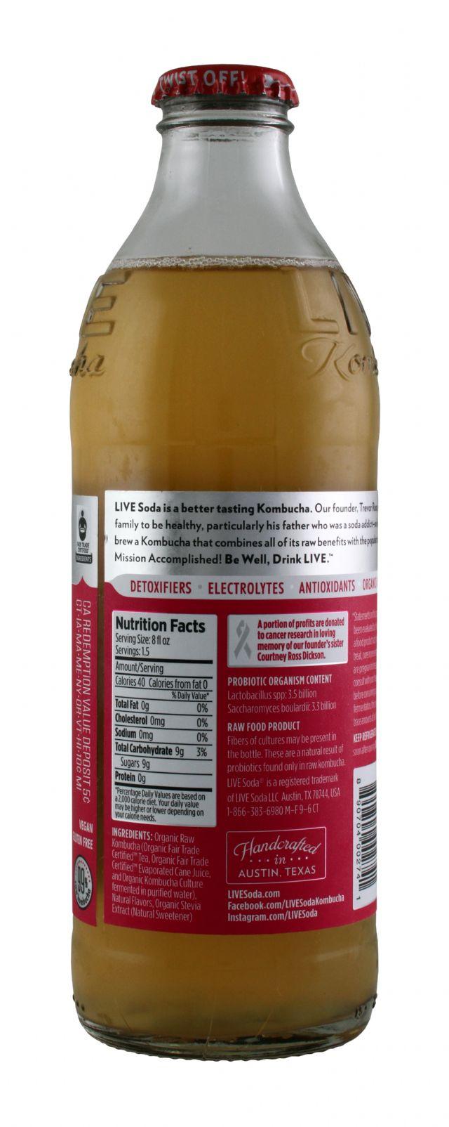 Live Soda Kombucha: Live RefreRub Facts