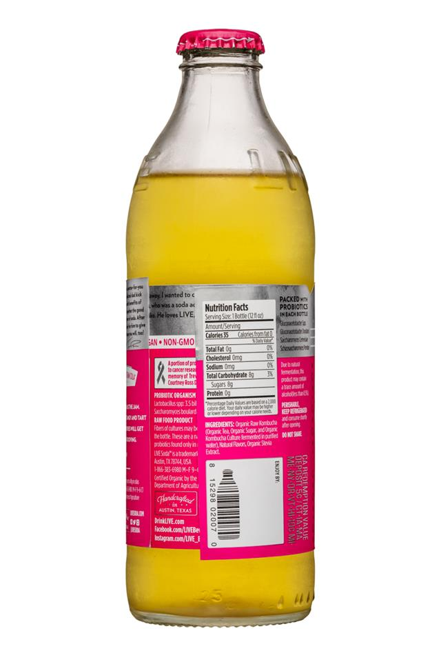 Live Soda Kombucha: Live-RawSoda-12oz-Kombucha-Raspberry-Facts