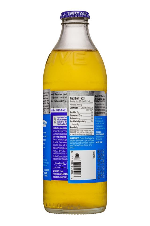 Live Soda Kombucha: Live-RawSoda-12oz-Kombucha-Blueberry-Facts