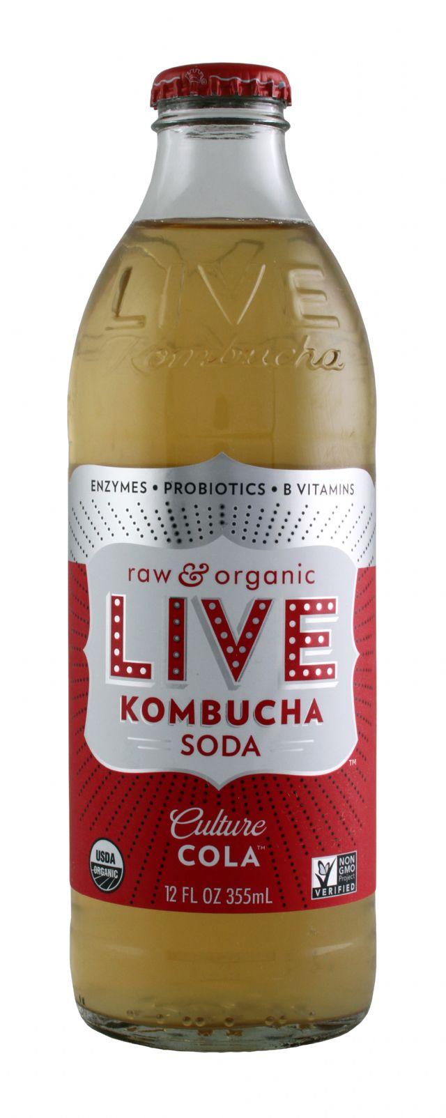 Live Soda Kombucha: Live CultureCola Front
