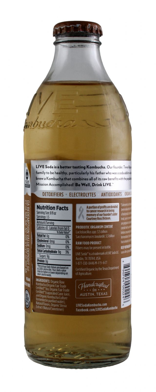 Live Soda Kombucha: Live ReviveRoot Facts