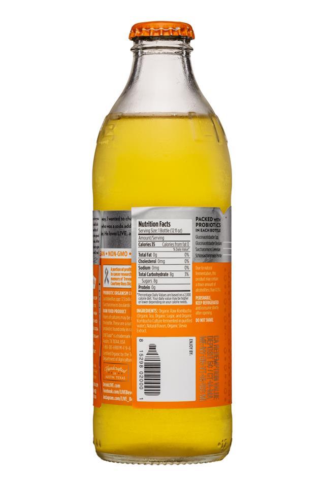 Live Soda Kombucha: Live-RawSoda-12oz-Kombucha-Orange-Fact