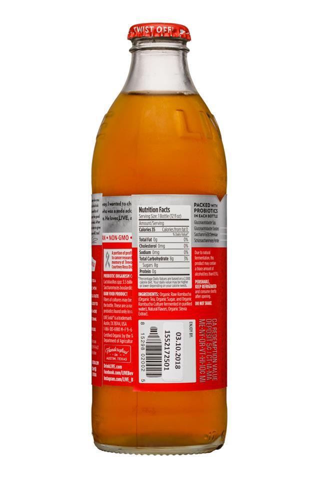 Live Soda Kombucha: Live-RawSoda-12oz-Kombucha-Cola-Facts