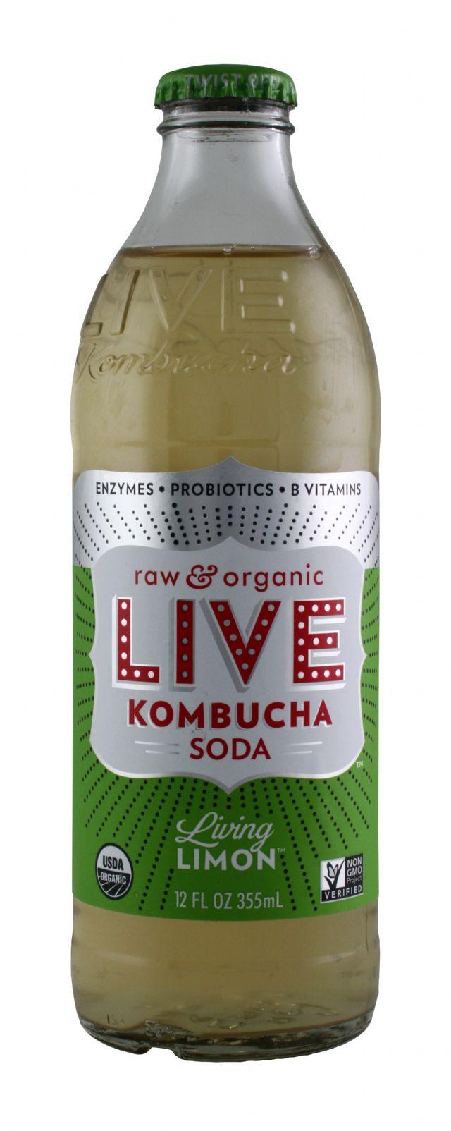 Live Soda Kombucha: Live LivingLimon Front