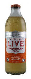 Live Soda Kombucha: Live DreamOrange Front