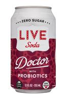Live Soda Kombucha: LiveSoda-12oz-Probiotics-Doctor-Front